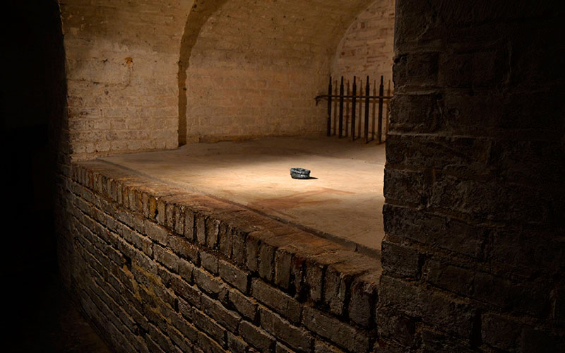 Evaporate installed within The Crypt Gallery