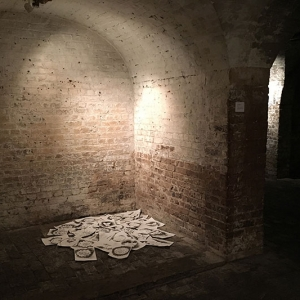 LayWaste installed at The Crypt Gallery