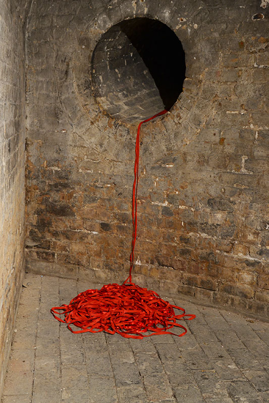 Marked installed at The Crypt Gallery