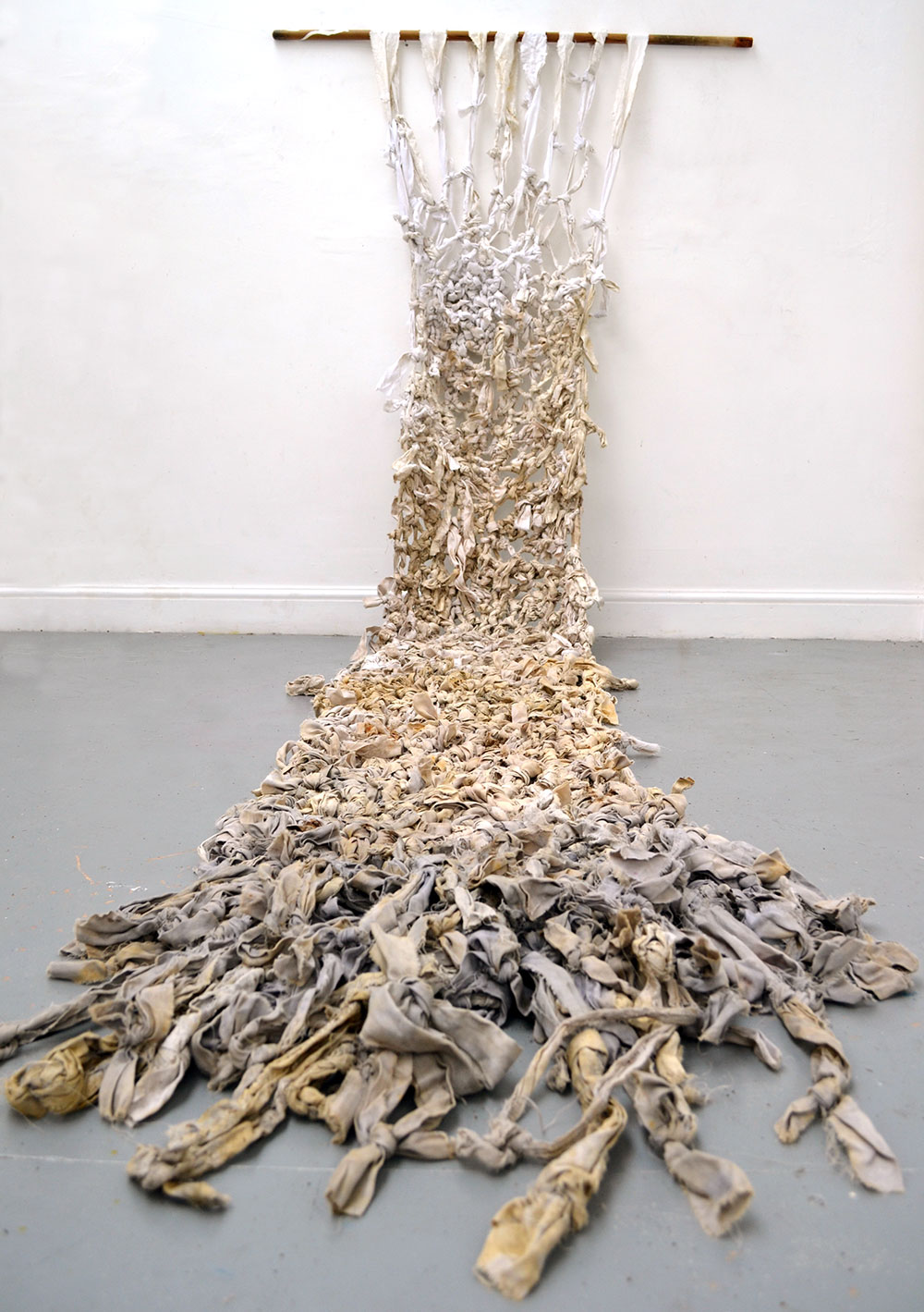 Lie Down - Textile Artwork exploring the Bosnian War