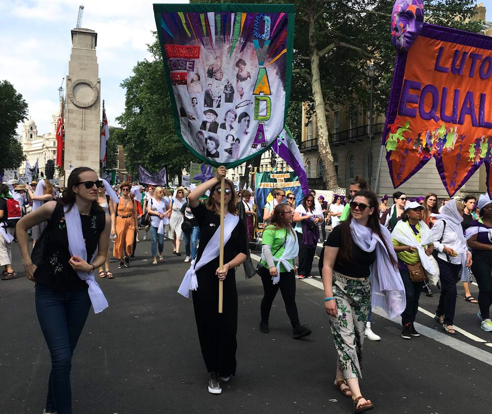 Processions 2018 banner demonstration