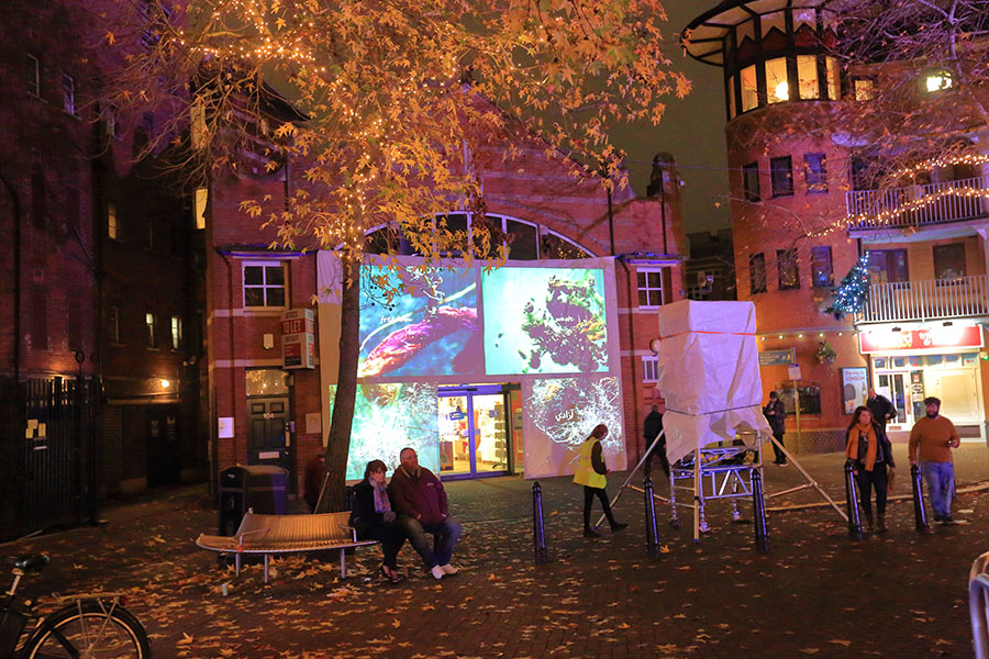 Light Festival Projection for the Our place preview event ©Stu Allsop