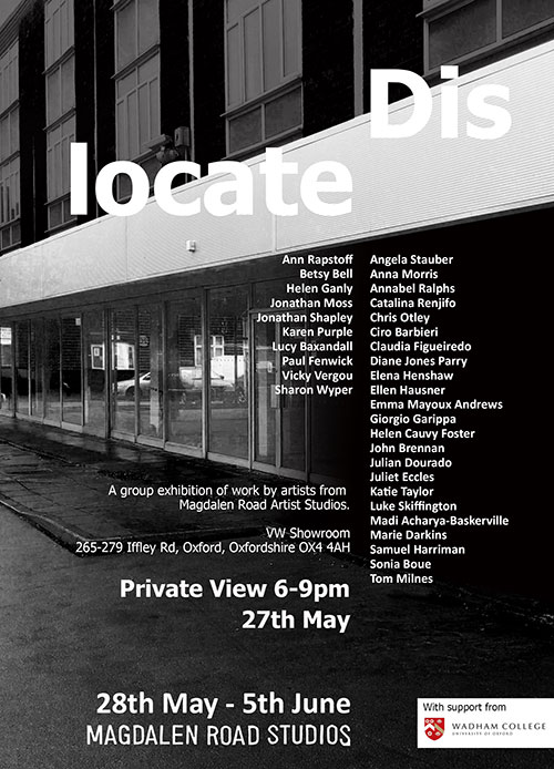 Dislocate Exhibition Poster
