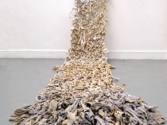 Lie Down - Textile Artwork exploring the Bosnian War